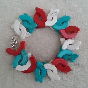 Multi-Colored Howlite Puzzle Bracelet